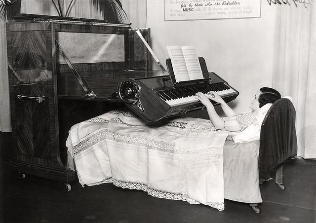 Piano for the bedridden