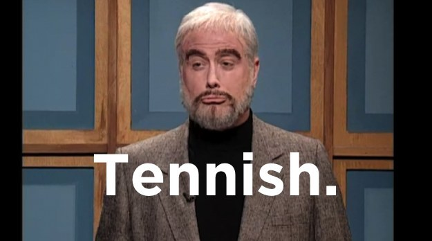 What time does Sean Connery get to Wimbledon?