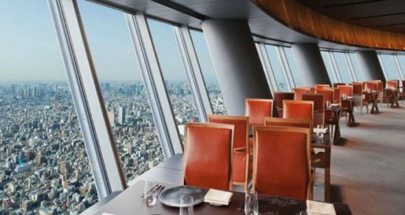 Sky Restaurant 634 - Tokyo, Japan