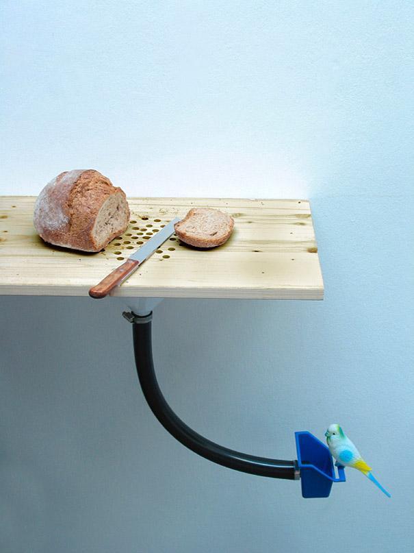 Cutting Board Bird Feeder