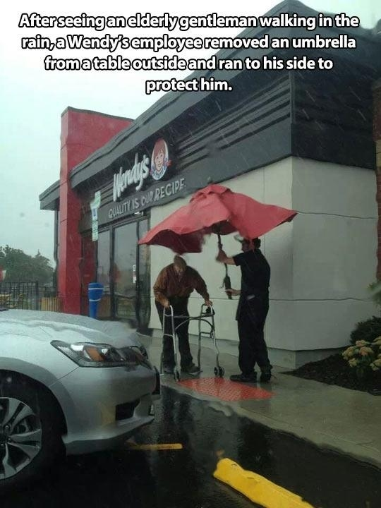 And this one of an employee going out of his way to help.