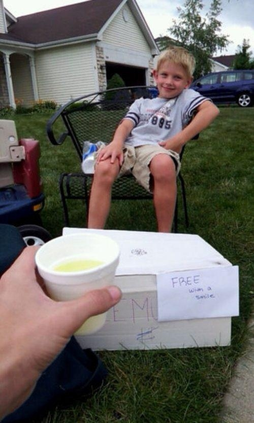 And this little kid invented a new form of currency.