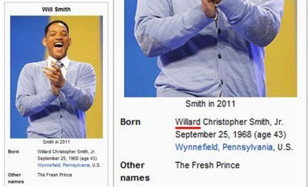 17. WILLARD Smith? Nerd.