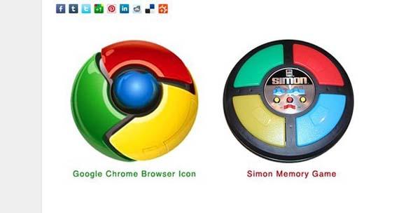 18. Google Chrome's logo looks like a classic toy.