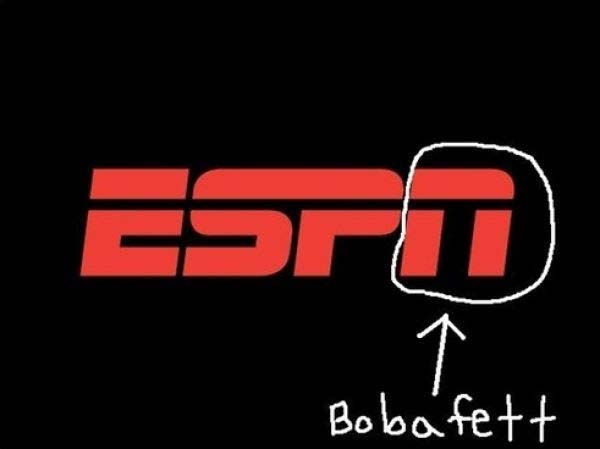 5. Did you know Boba Fett's helmet was in the ESPN logo?