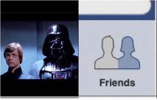 6. Or how about Darth Vader in Facebook's icons?