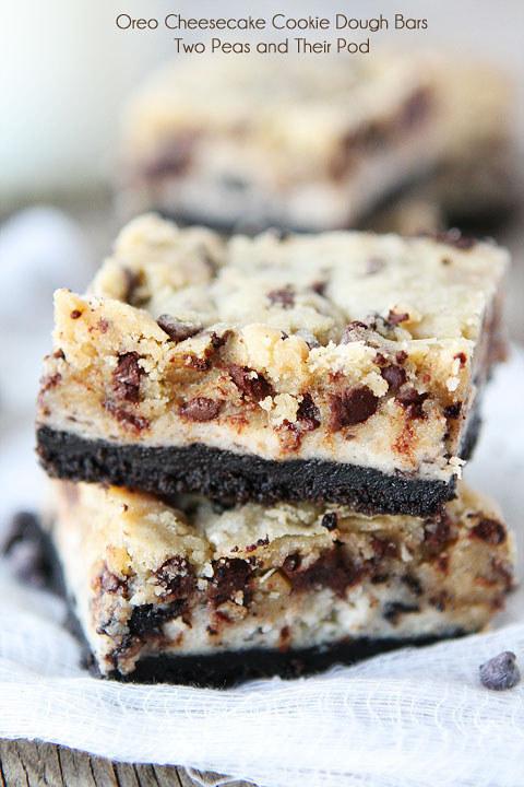 Oreo Cheesecake Cookie Dough Bars