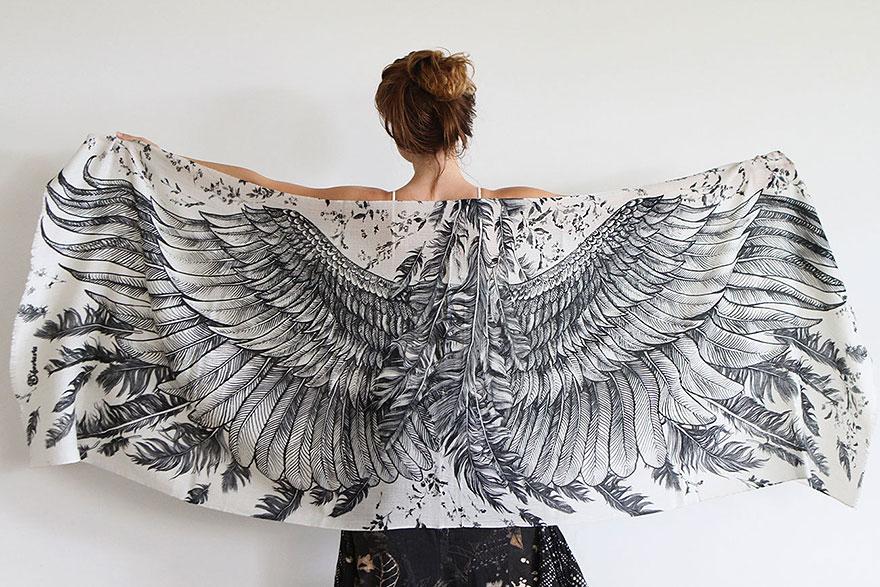 bird-scarves-wings-feather-fashion-design-shovava-9