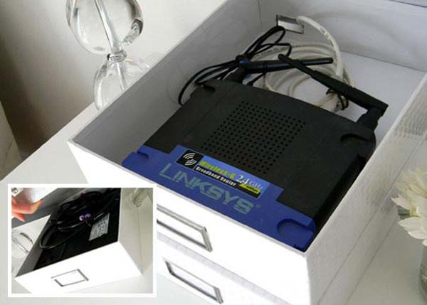 10.) Hide your routers in pretty boxes.