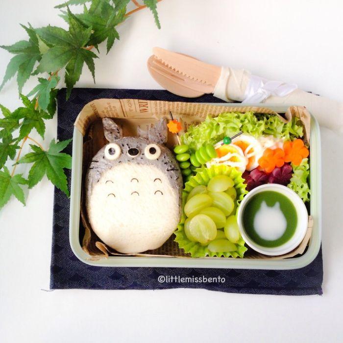 Totoro Sandwich Bento