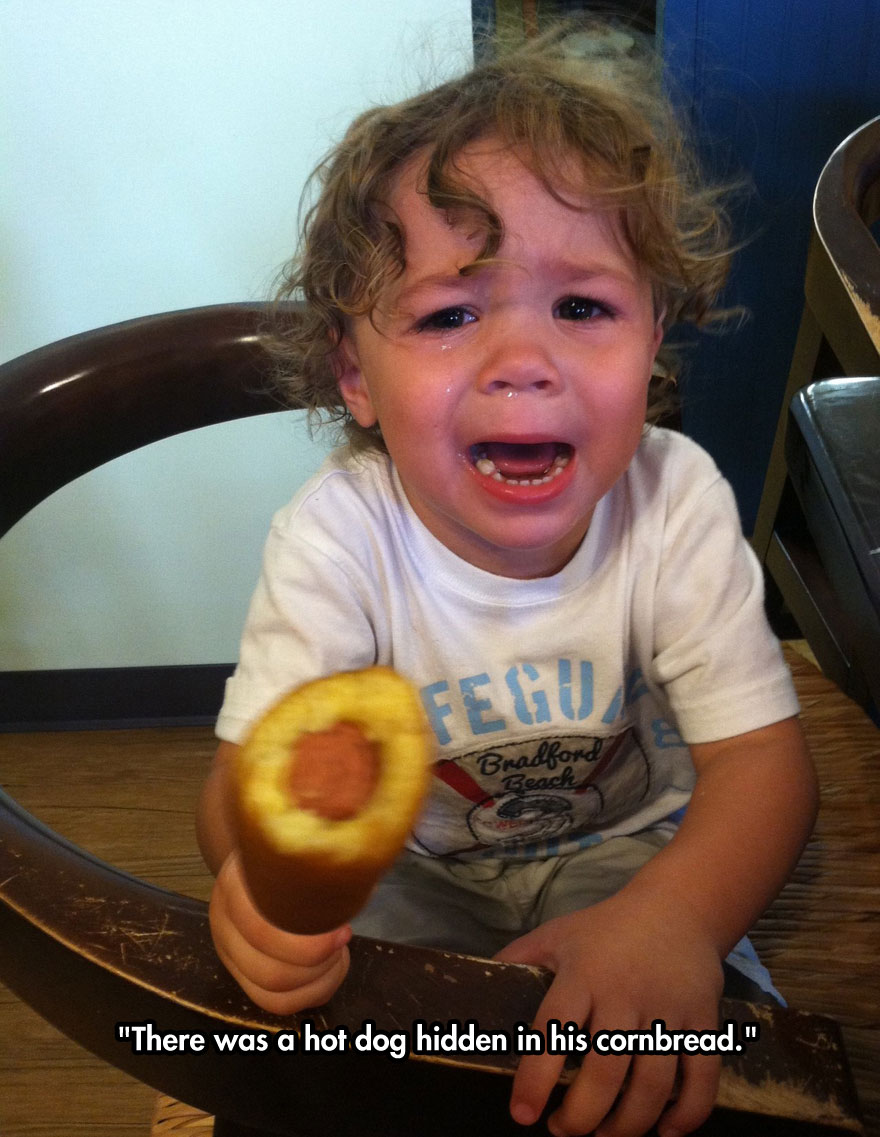 funny-baby-crying-corn-dog-table