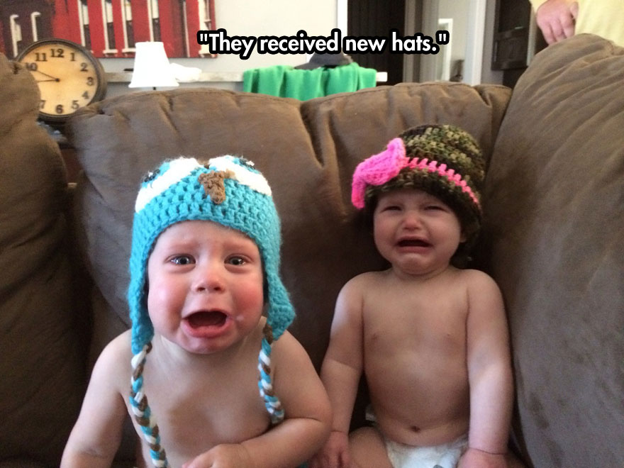 funny-babies-crying-hats-couch