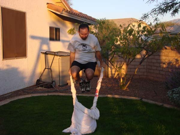 Kevin is now the world record holder for wedding dress jumps (that's 37, by the way).