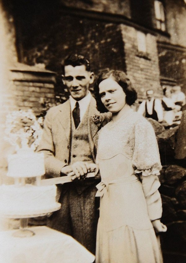 Glenys with her first husband