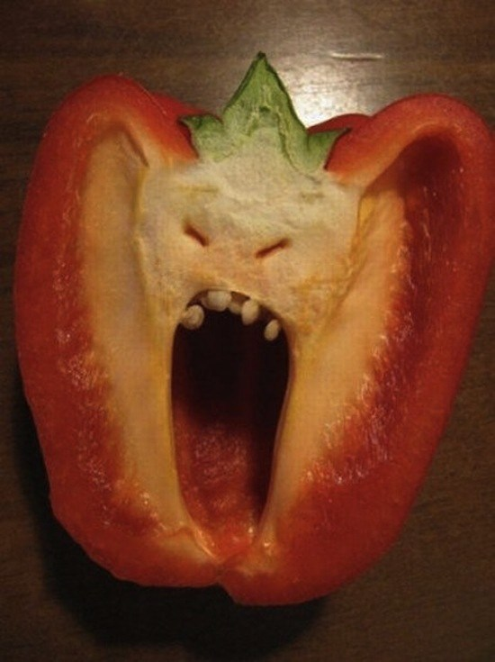 This pepper will bite your head off, and not in a funny way