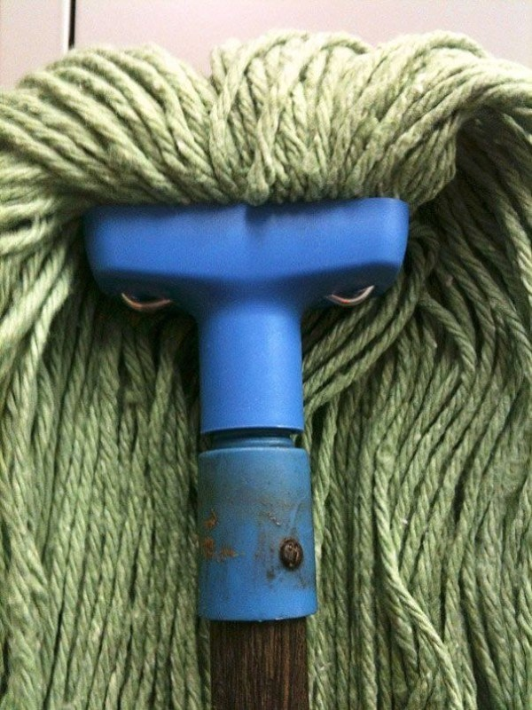 And this mop has seriously mean intentions. It involves you falling on the floor