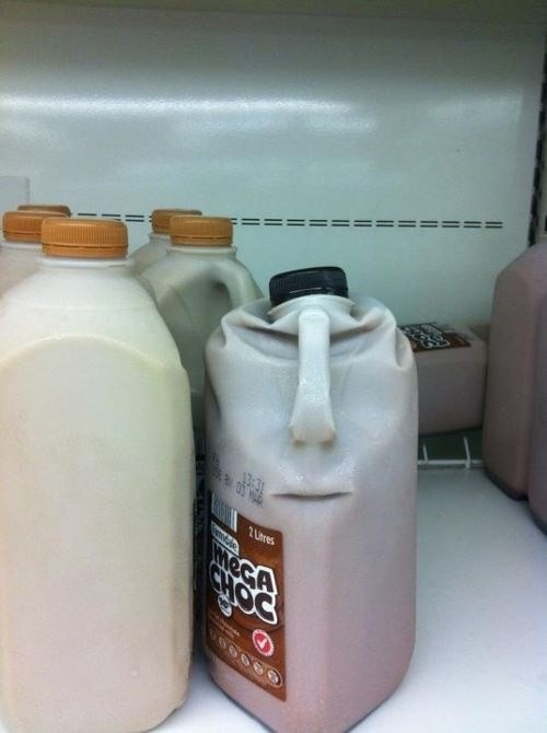 This milk bottle spells trouble