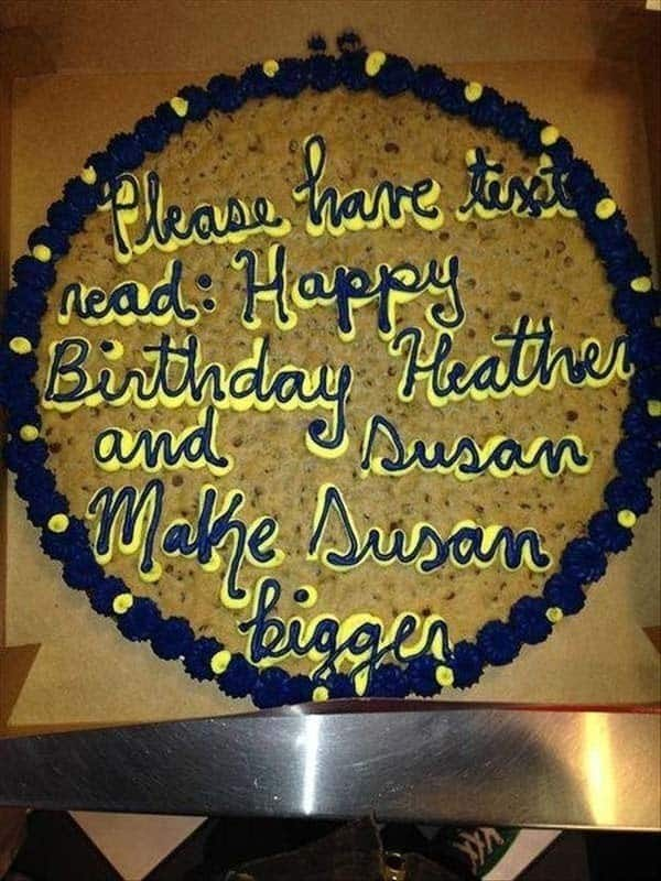 Phenomenal 21 Hilarious Cake Messages That Are Winning As Theyre Failing Funny Birthday Cards Online Fluifree Goldxyz