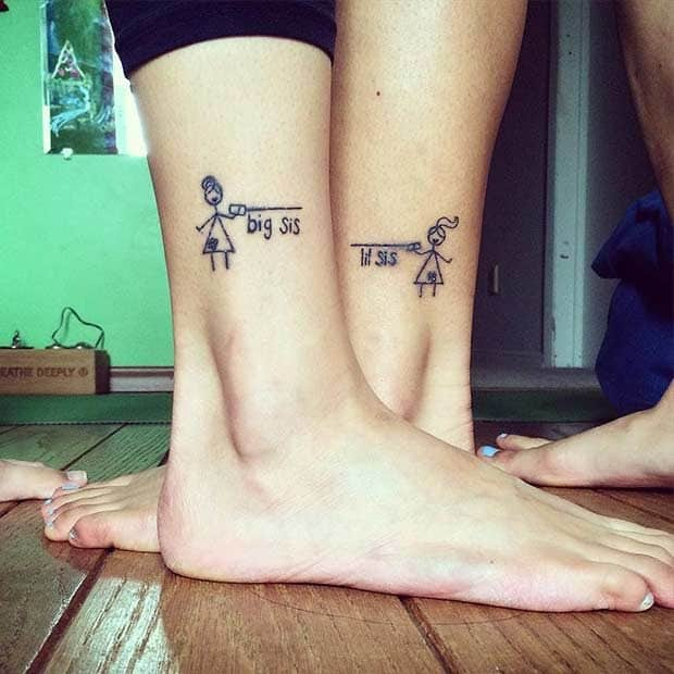 bda24ead13c29 19 Unbelievably Cool Matching Tattoos For Only The Closest Sisters