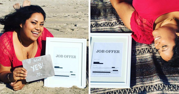This Woman Just Celebrated Her Job Offer With A Hilarious Photo Shoot