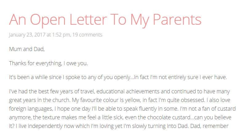 A Thank You Letter To My Parents.This Teen Girl Wrote A Heartbreaking Thank You Letter To