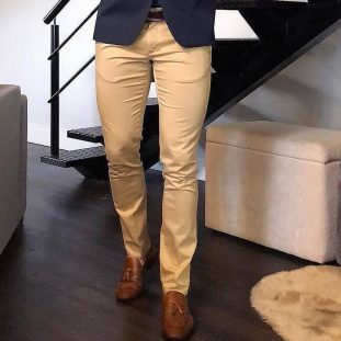 khaki and loafers