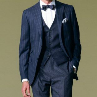 pinstripe and bow tie