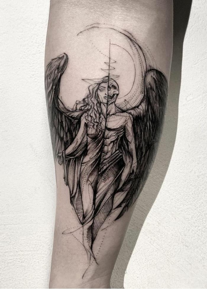 Tattoo black angel 45+ Angel